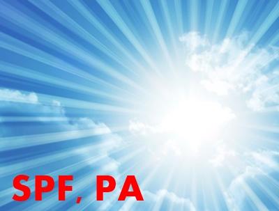 日焼け止め SPF PA