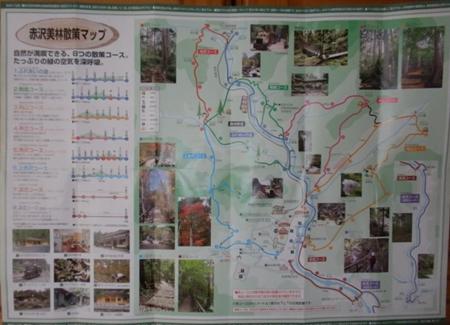 赤沢自然休養林マップ