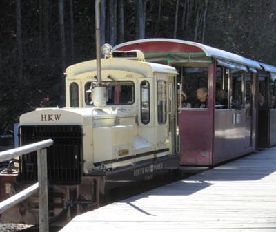 赤沢自然休養林で森林鉄道に乗ってきました