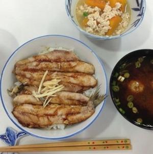 いわし(のかば焼き)丼