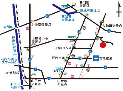常磐自動車道 千代田石岡IC