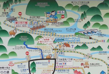 夢の吊り橋 案内図